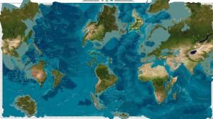 Карта мира после смещения полюсов (от astrolaz)