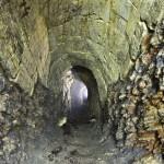 В этом месте находился старинный шахтерский выход на поверхность.