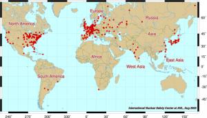 Карта ядерных объектов
